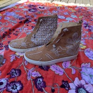 Free People Suede Tennis Shoes - size 36